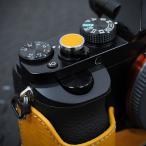 LIM'S/リムズ イタリアンレザー ソフトボタン LS-SB3 イエロー【シール式レリーズボタン(貼り付けタイプ)】