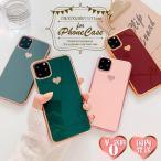 iPhone11 ハート ケース シンプル アイフォンケース ソフトケース メタリック 4色カラー
