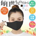 マスク 紐付きマスク 10枚セット 水洗い可能 ウイルス対策 花粉対策 秋用 冬用 蒸れない UVカット 花粉 ウィルス 飛沫
