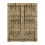 アイアンローズフェンス220(2枚組)…IFROSE-220-2P ガーデニング イングリッシュ ガーデン 庭 玄関 屋外 おしゃれ オシャレ アイアン