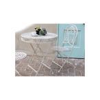 ブランティーク アイアンテーブル70&チェア 3点セット SPL-6628-3P ガーデニング イングリッシュ ガーデン 庭 玄関 屋外 おしゃれ オシャレ テラス