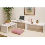 パソコンデスク プリンター台 テレビ台 ローテーブル ローデスク ロータイプ ネストテーブル 白 おしゃれ 人気 アウトレット セール トミー ホワイト