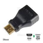 MINI HDMI変換アダプター HDMIタイプA(メス) HDMI-mini(オス) HDMI Aタイプ HDMI Cタイプ HDMIミニ mini