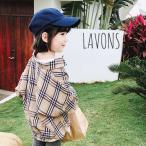 子供服 チェック柄 シャツ キッズ 長袖 ネルシャツ バーバリー風 韓国子供服