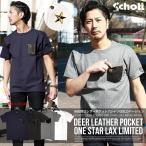 Schott ショット 別注 限定 DEER POCKET ONE STAR レザーポケット ワンスター Tシャツ 3163030 3173042 デザイン メンズ オシャレ オリジナル ブランド