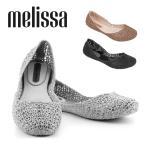 ショッピングラバーシューズ Melissa メリッサ ラバーシューズ 靴 シューズ レディース 31512 CAMPANA PAPEL VII ぺたんこ メッシュ グリッター ブラック ベージュ おしゃれ