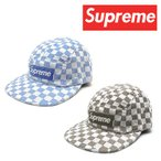 Supreme シュプリーム キャップ 帽子 ブランド SS18H11 CHECKERBROARD CAMP CAP チェッカー柄 メンズ レディース アメカジ ストリート スケーター