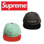 Supreme シュプリーム キャップ 帽子 ブランド SS18H72 DENIM SUEDE COMPACT LOGO 6-PANEL CAP コンパクトロゴ メンズ レディース アメカジ ストリート