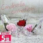 プリザーブドフラワー カーネーション ギフト 枯れないお花 ガラスの靴 硝子のくつ シンデレラ アクリル フラワーアレンジメント リングピロー 母の日