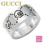 グッチ 指輪 リング メンズ レディース グッチゴースト GUCCI 太め 大きいサイズ 親指 シルバー