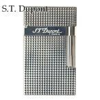 エステー デュポン ガスライター S.T.Dupont ライター 喫煙具 ライン2 016184 メンズ シルバー 1.5mm ダイアモンド ヘッド カット プレゼント 父の日