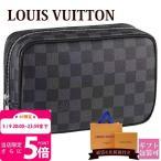 ルイヴィトン LOUIS VUITTON バッグ メンズ トラベルポーチ トゥルース・トワレ PM ダミエ・グラフィット N47522