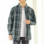 チェックシャツ メンズ ストライプシャツ 長袖 カジュアルシャツボタンダウン チェック柄