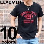 ショッピング柄 Tシャツ メンズ 半袖 アメカジ カレッジ プリントTシャツ クルーネック 文字 ロゴT 柄 パターン