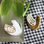 ★ノースオブジェクト 陶器鳥ブローチB