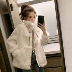 ムスタンコート コート ボアブルゾン ボア アウターレディース ジャケット 秋冬 冬 ショート ショート丈 暖か 防寒 厚手 ゆったり 大きいサイズ 韓国風 もこもこ