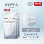 【日本製N95規格相当】PITTA MASK 2.5a(5枚入) ピッタマスク レギュラーサイズ 2袋セット 送料無料 在庫あり 風邪 ほこり 花粉対策 男女兼用 飛沫防止