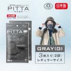 【日本製】 PITTA MASK ピッタマスク 3枚入り 2袋セット グレー ピッタ マスク 在庫あり 風邪 ほこり 花粉対策 男女兼用 洗えるマスク 飛沫防止