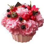母の日 プレゼント ピンクカーネーション フラワーケーキ ふわふわケーキのフラワーアレンジメント