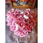 ホワイトデー プレゼント 花 お返し ピンクのハートのフラワーアレンジメント