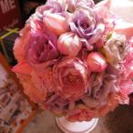 ブーケ プリザーブドフラワー  ピンク ご希望カラーでお作り致します プリザーブドフラワー入りブーケ