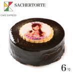 お中元 ギフト 写真ケーキ ザッハトルテ チョコレートケーキ 6号 18cm 7〜10名様用