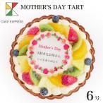 母の日ケーキ メッセージプリント フルーツタルト 6号 7〜10人 クリスマスケーキ バースデーケーキ