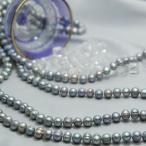 パール 真珠 ロングネックレス バロック 160cm グレー アウトレット価格