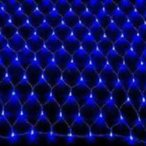 LEDイルミネーション ネットライト 2×1m 176球 防雨型 ブルー 屋内外兼用 業務用 [IMN176-B]の画像