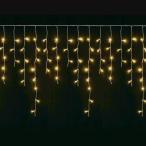 ショッピングLED LEDイルミネーションライト つらら 5m120球 防雨型 シャンパンゴールド(電球色) 屋内外兼用 業務用 [IMT120-WW]
