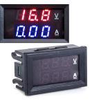 デジタル 電圧計 電流計 DC100V 10A まで測定可 暗所でもOK 赤色 青色 LEDバックライト 埋め込み型 マルチメーター