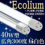40型 300度 22 MW    LED蛍光灯 40W 40W型 40W形 2400lm 昼白色 5000k 照射角300度 2年保証  消費電力22W 10本以上送料無料
