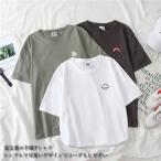 半袖Tシャツ レディース Tシャツ クルーネック サマーTシャツ 半袖 カットソー 虹柄 夏Tシャツ レインボー柄 ゆったりTシャツ 可愛い 送料無料