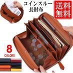 財布 長財布 レディース メンズ コインスルー ギャルソン 財布 カード28枚収納 ガバッと開いて使いやすい BOX型小銭入れ