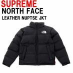 Supreme × The North Faceシュプリーム × ノースフェイスLeather Nuptse Jacket レザー ヌプシ ジャケットBLACK ブラックカラーアメリカ正規直営店買付分