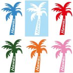 【メール便可】【当店オリジナル】【ハワイアンステッカー】全6色  ヤシの木(パームツリー)