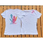 【当店オリジナル】/フラガール半袖Tシャツ・全5色3サイズ フラダンス ショップ ハワイアン フラガール スカート 衣装 ウィッグ 小物 ブラウス レイ