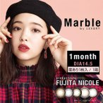 カラコン カラーコンタクトレンズ 度あり 1ヶ月 1month Marble マーブル by LUXURY 1箱