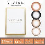 カラコン カラーコンタクトレンズ ViVian ヴィヴィアン マンスリー 度あり 度なし 1ヶ月 1month 1枚入 1箱