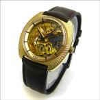 ウォルサム モナコ YGキャップ スケルトン メカニカル メンズ watch アンティーク 時計
