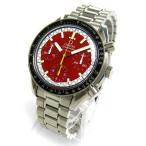 オメガ 3510-61 スピードマスター オート シューマッハ 赤文字盤 メンズ 時計 タイヤBOX 保証書 レア OMEGA 磨き仕上げ済 自動巻き