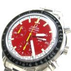 オメガ 時計 スピードマスターオート シューマッハ メンズ 赤文字盤 3510.61 BOXつき レア OMEGA メンテナンス済