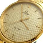 オメガ 時計 デビル メンズ ゴールド 金彩格子 OMEGA DeVille デ・ビル デヴィル デ・ヴィル レア