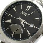 キャサリンハムネット 時計 レトログラード メンズ 黒文字盤 KH-2077 KATHARINE HAMNETT 腕時計 クォーツ