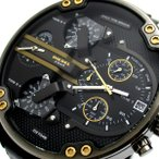 ディーゼル 時計 ミスターダディ 2.0 メンズ クロノグラフ 黒文字盤 DZ-7348 BOX DIESEL DZ7348 腕時計 クォーツ 4タイム クロノ