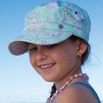 帽子 UVカット キャップ 女の子 ポニーテールができる帽子  キッズ帽子 ミントグリーン Kooringal 子供 子供用帽子 紫外線対策 春夏