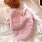 ドッグウェア 厚手 モコモコ 小型犬 犬服 冬 キャットウェア ボア付き 暖かい フワフワ 犬 洋服 可愛い 猫服 フリースジャケット 送料無料