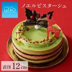 クリスマスケーキ 2018 ピスタチオ ショコラ ムース チェリー スイーツ お取り寄せ ルタオ ノエル ピスターシュ 4号12cm(2〜4名)