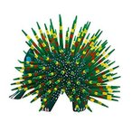 NOVICA Hand Painted Green and Yellow Alebrije Porcupine Wood Sculpture