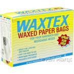 ワックスペーパー バッグ 60枚入り ホワイト WATEX 食品包材/ランチバック/ワックスペーパー